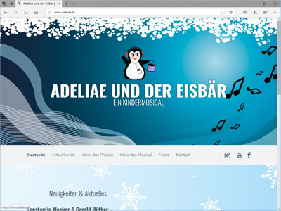 Webseite Kindermusical Adeliae